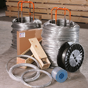 Samples of Illini Wire Mill stainless steel wire